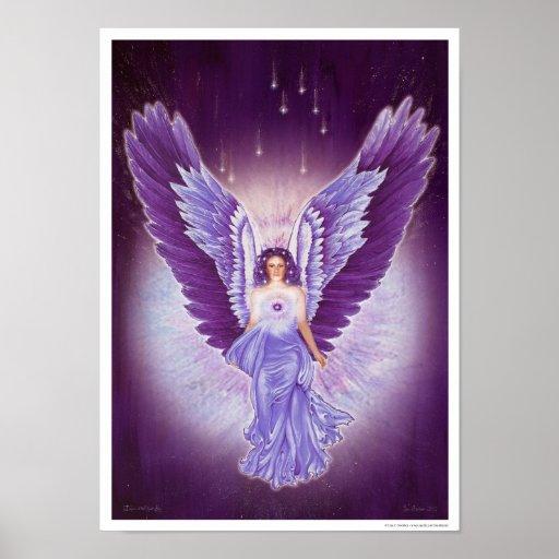 Glorious Violet Amethyst Angel Poster