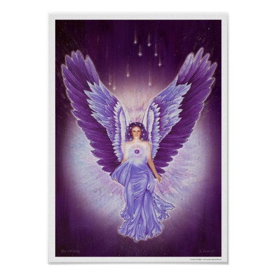 Glorious Violet Amethyst Angel Poster