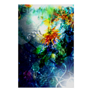 Glory Come Down (Abstract Art Poster) Poster