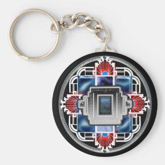 glory deco 2 basic round button key ring