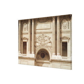 Glory distributing crowns, from the colonnade canvas print