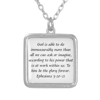 Glory forever Ephesians bible verse necklace