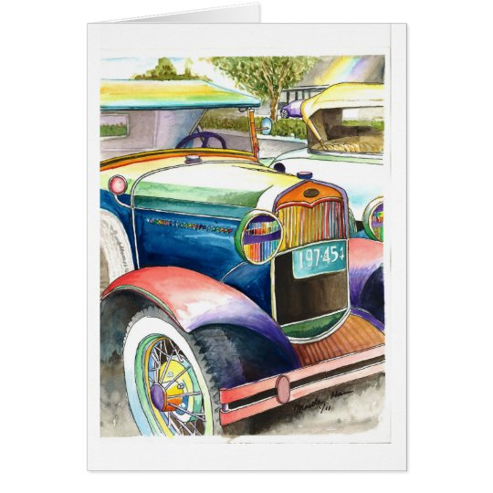 Glory of A Car of Yester Year Card