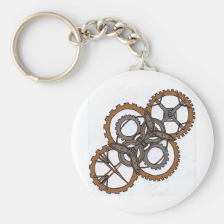 Glory of Gears Basic Round Button Key Ring