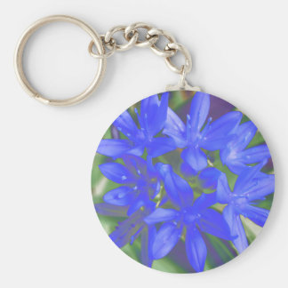 Glory Of The Snow Fluorescent Blue Keychain