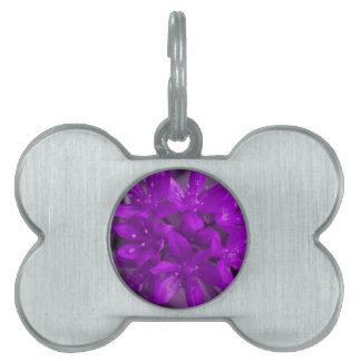 Glory of the Snow Purple Pet Tag