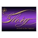 Glory to God Christmas Greeting Card