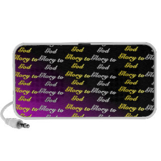 Glory to God Doodle Portable Speakers