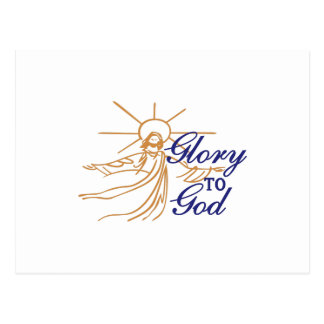 Glory To God Postcard