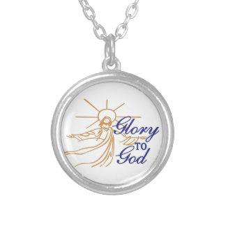 Glory To God Round Pendant Necklace
