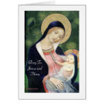 Glory To Jesus and Mary Note Card