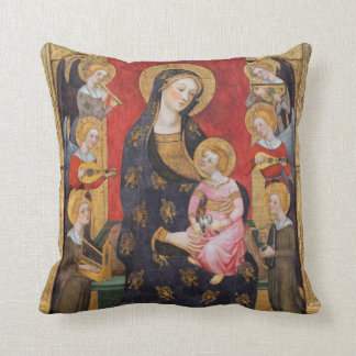 GLORY TO JESUS AND MARY THROW PILLOW