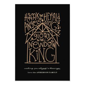Glory to the Newborn King 13 Cm X 18 Cm Invitation Card