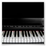 Gloss canvas piano print