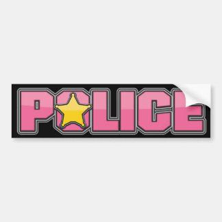 Gloss Pink Police Department 3 Bumper Sticker