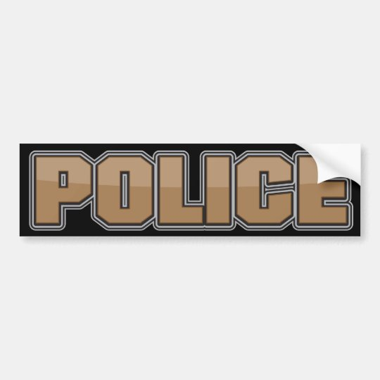 Gloss Police Department Brown 2 Bumper Sticker