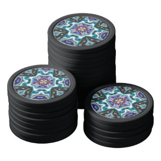 Glossy Abstract Reflections Poker Chips