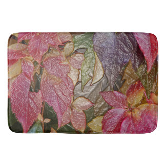 Glossy autumn leaves, Wax-Look 001.1 Bath Mats