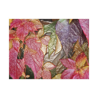 Glossy autumn leaves, Wax-Look 001.1 Canvas Print