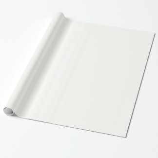 Glossy Baby Powder White Wrapping Paper