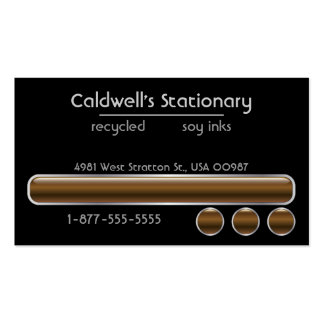 Glossy Bars and Buttons - Brown Business Card Templates