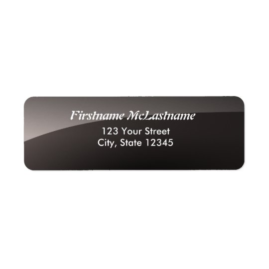 Glossy black address labels