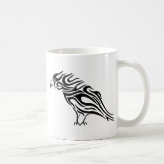 Glossy Black Raven Tattoo Mugs