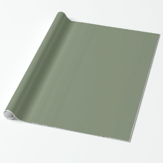 Glossy Camouflage Green Wrapping Paper