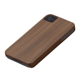 Glossy Chocholate Wood Grain iPhone 4 Case-Mate Case