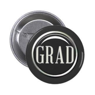 GLOSSY CIRCLE BUTTON GRAD GRADUATE GRADUATION SCHO