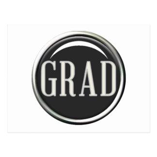 GLOSSY CIRCLE BUTTON GRAD GRADUATE GRADUATION SCHO POST CARDS