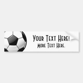 Glossy Classic Soccer Ball Bumper Sticker