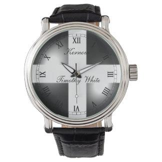 Glossy Dome Cornish Flag Wrist Watches