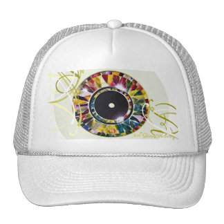 Glossy Eye Design Special Cap Mesh Hats