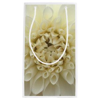 Glossy gift bag cream flower