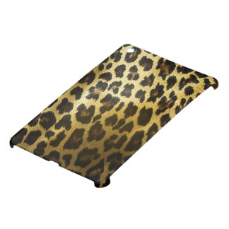 Glossy Golden Leopard Fur iPad Mini Covers