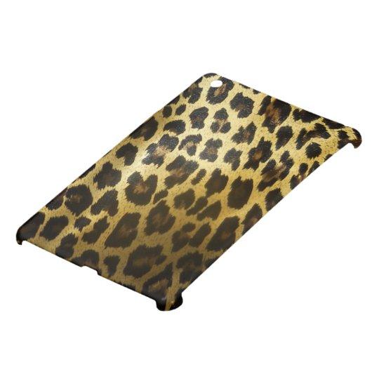 Glossy Golden Leopard Fur iPad Mini Covers