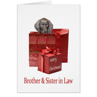 Glossy Grizzly Brother & Sister in Law Merry Chris Greeting Card