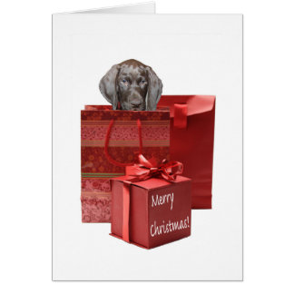 Glossy Grizzly Christmas Greeting Card