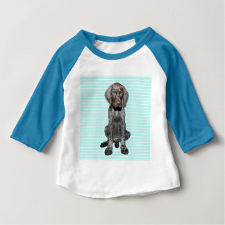 Glossy Grizzly in Blue Baby T-Shirt
