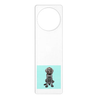 Glossy Grizzly in Blue Home decoration Door Hanger