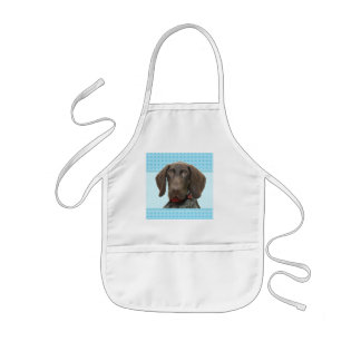 Glossy Grizzly in Blue Kitchen & Dining Kids Apron