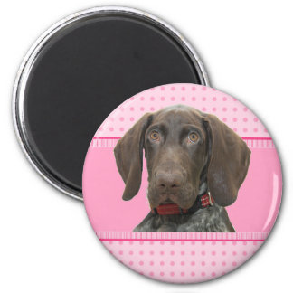 Glossy Grizzly in Pink 6 Cm Round Magnet