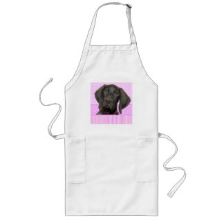 Glossy Grizzly in Pink Long Apron