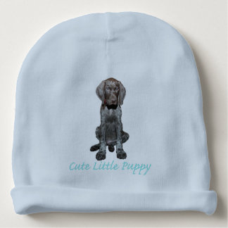 Glossy Grizzly Puppy Boy Baby Beanie