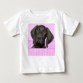 Glossy Grizzly Puppy Girl Baby T-Shirt