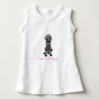 Glossy Grizzly Puppy Girl Dress
