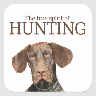 Glossy Grizzly true spirit of hunting Square Sticker