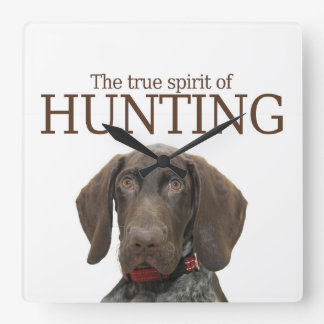 Glossy Grizzly true spirit of hunting Square Wall Clock