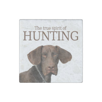 Glossy Grizzly true spirit of hunting Stone Magnet